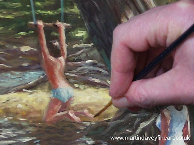 Martin davey painting camping fun art