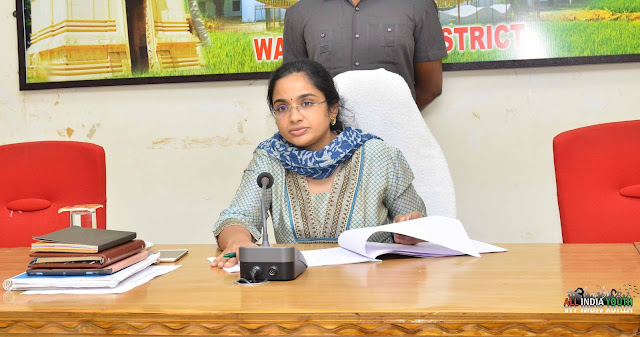 Swetha Mohanty in a government office