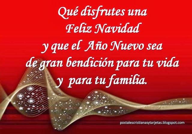 bonita imagen color rojo con mensaje cristiano para saludar empresas amigos familia feliz navidad y año nuevo prospero
