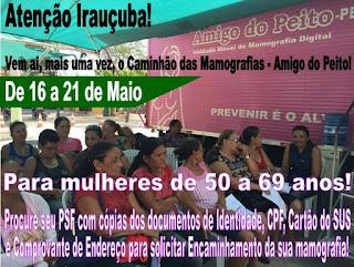 CAMINHÃO AMIGO DO PEITO ESTARÁ DE VOLTA A IRAUÇUBA NESTE MÊS DE MAIO