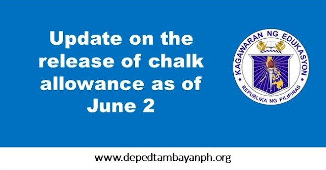 Update on the release of chalk allowance as of June 2