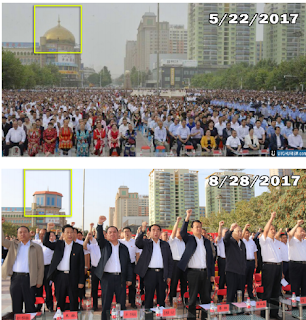 ribuan masjid muslim uyghur dihancurkan