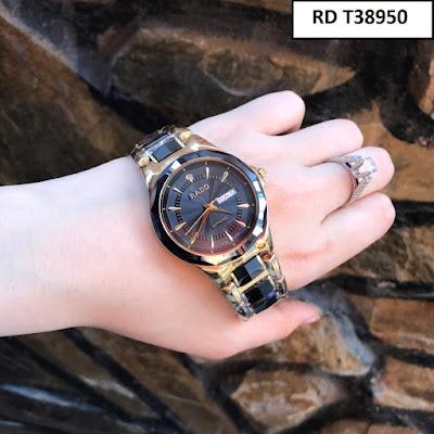 Đồng hồ đeo tay nam mặt tròn dây đá ceramic RD T38950