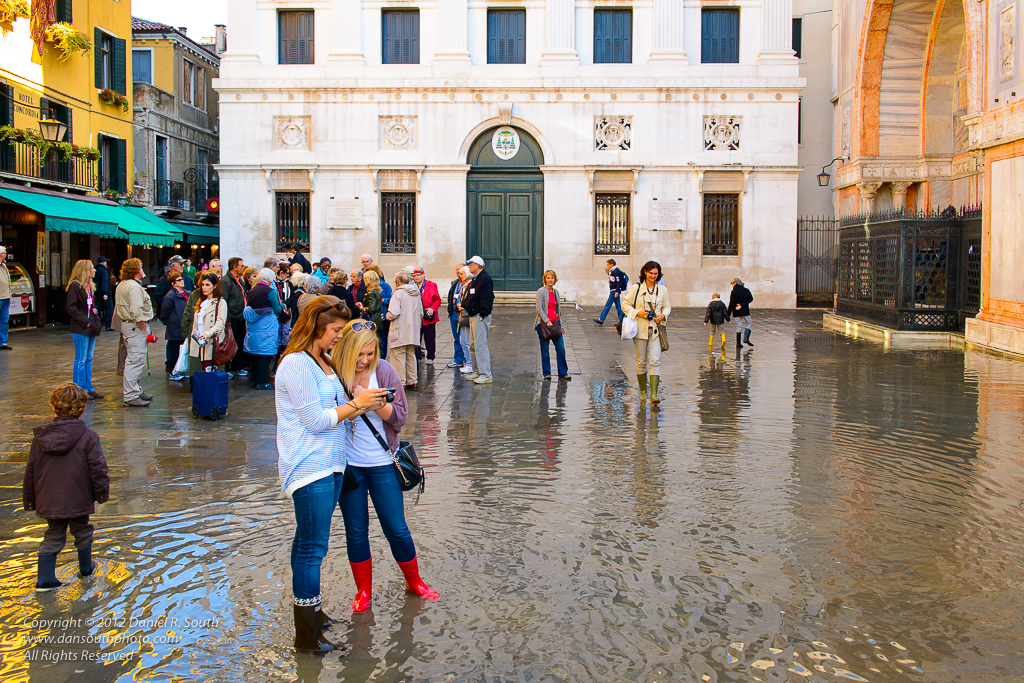 a photo of venice at high tide