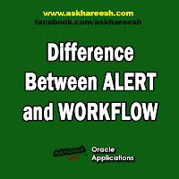 Difference Between ALERT and WORKFLOW, www.askhareesh.com