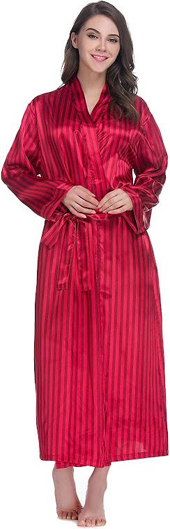Women's Long Satin Robes
