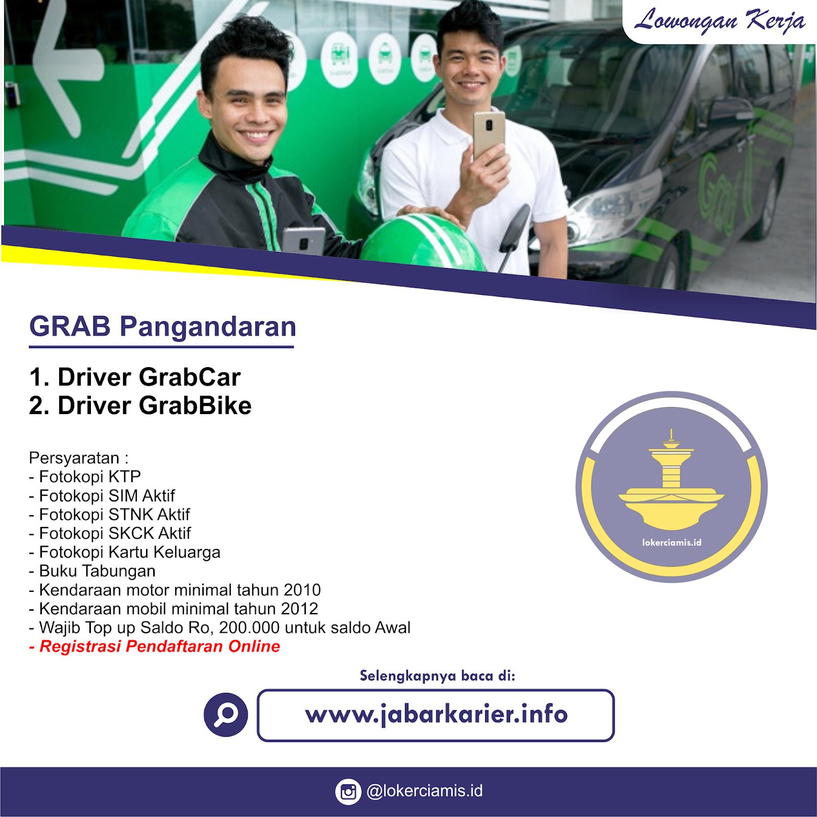 Lowongan Kerja Driver Grab Pangandaran Agustus 2019 Lowongan