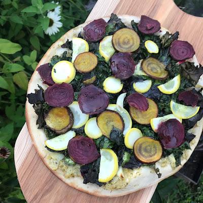 Gluten free Vegan Beet Pizza recipe