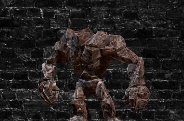 Stone Golem in The Tower of Screaming