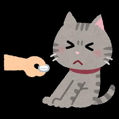 薬を嫌がる猫のイラスト
