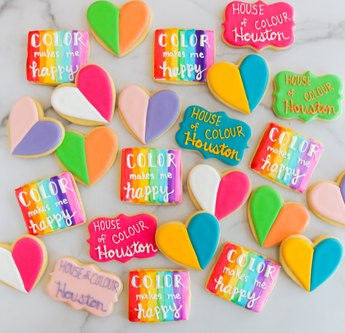 Decorated cookies for House of Colour Houston