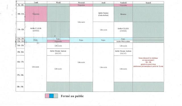 planning du 27 février au 03 mars 2017