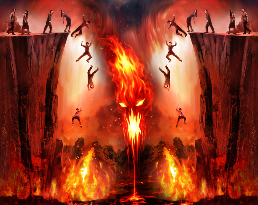 Bildergebnis für men in hell burning images