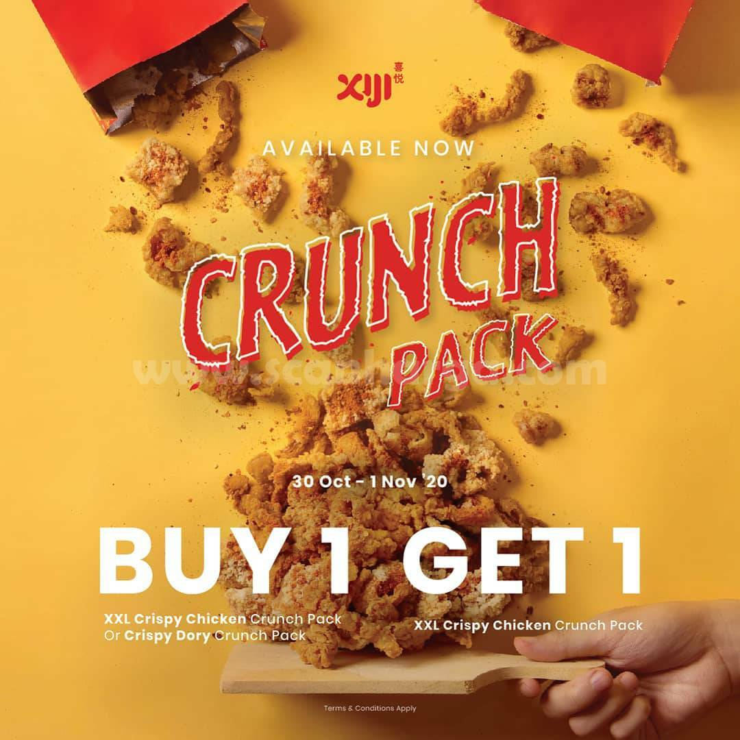 Promo XIJI Paket Baru CRUNCH PACK - Buy 1 Get 1 Free Snack Crispy Chicken