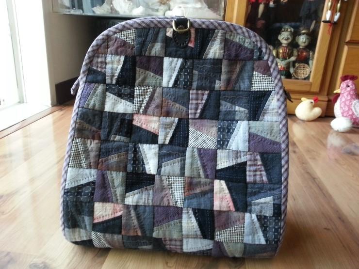 How to make tutorial shoulder backpack women sewing. Женский рюкзак Patchwork, инструкция по шитью