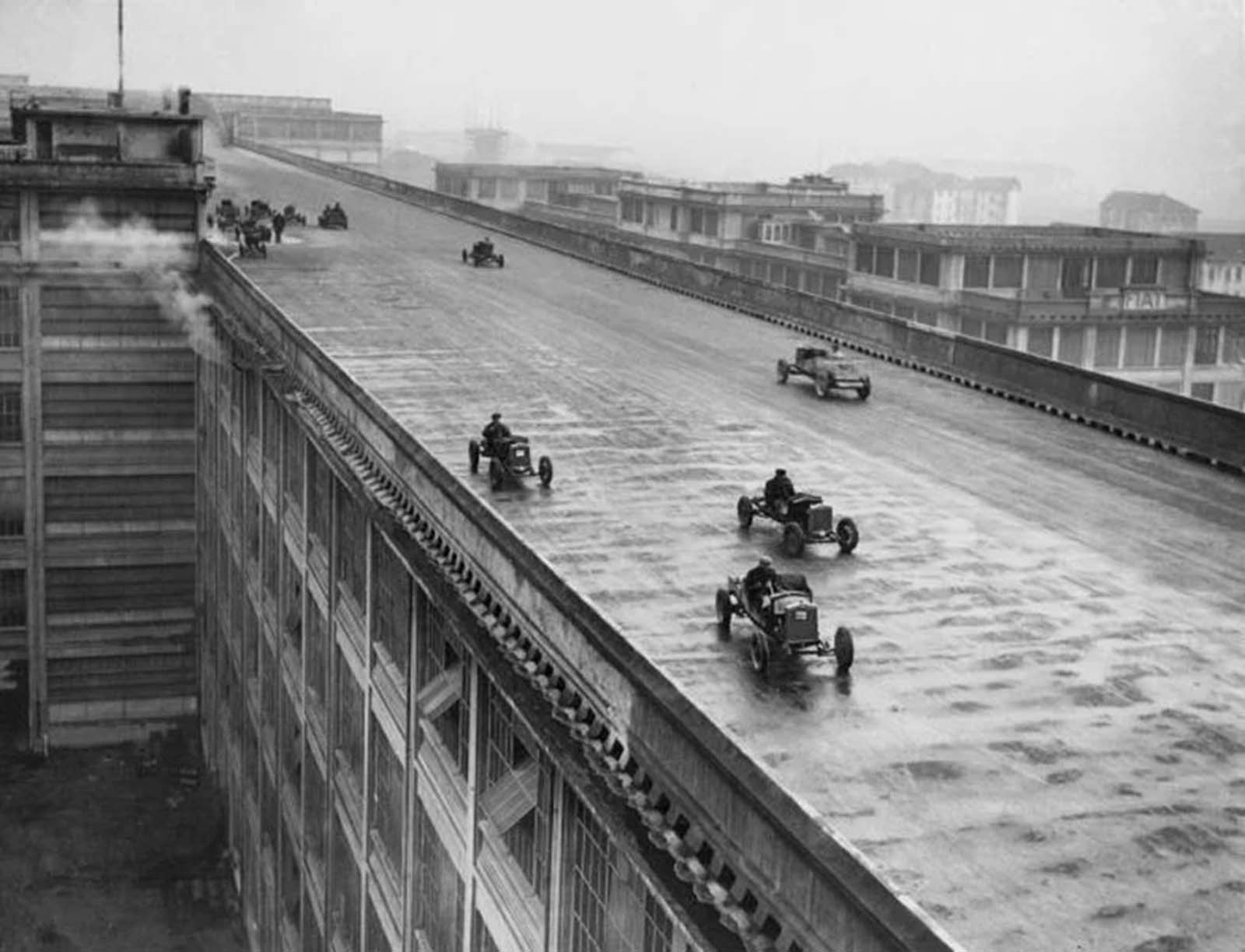 racetrack rooftop factory italy