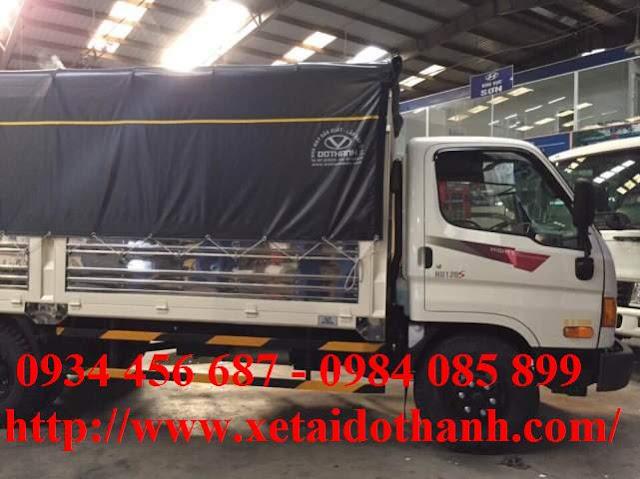 Giá ô tô tải HD 120s nâng tải thùng bạt