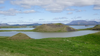 Skutustaoagigar craters in Iceland