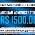 AUXILIAR ADMINISTRATIVO COM SALÁRIO R$ 1500,00 PARA DISTRIBUIDORA NO RECIFE