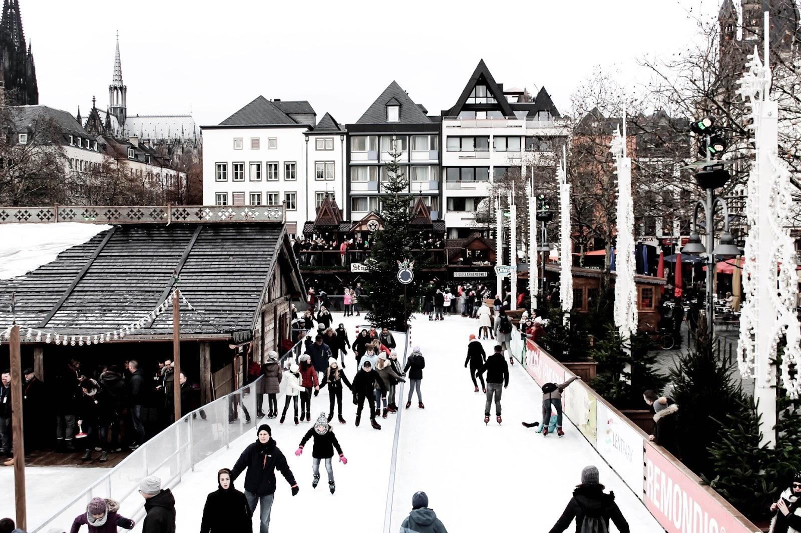 Heimat Der Heinzel Ice Skating Christmas Market Cologne