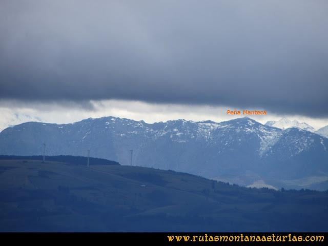Ruta Alto Aristebano, Estoupo, Capiella Martín: Vista de Peña Manteca