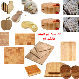 thớt gỗ làm từ gỗ ghép