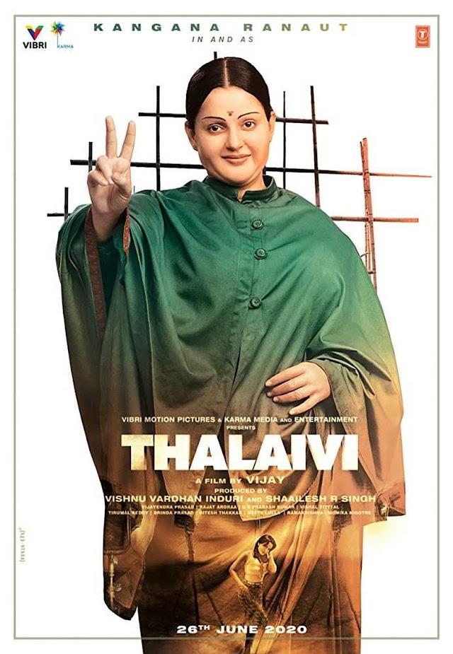 Thalaivii 2021 x264 720p WebHD Esub AAC Hindi THE GOPI SAHI
