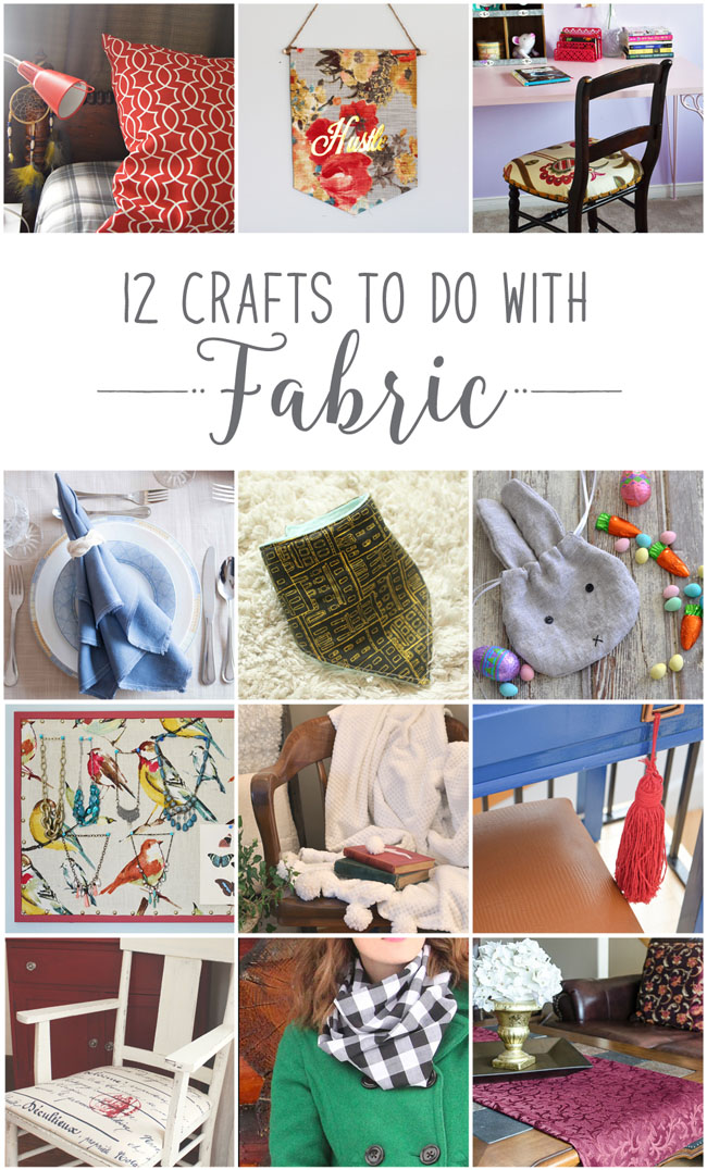 12 Crafts to Do With Fabric, from baby bib to upholstered chairs - from 12 Canadian lifestyle and decor bloggers #diy #crafts #decor