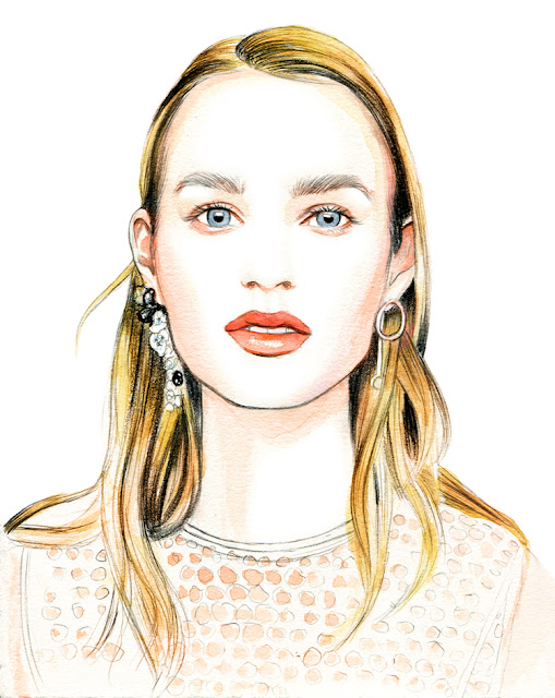 Illustration by Lidia Luna: Dior Resort 2016 Beauty