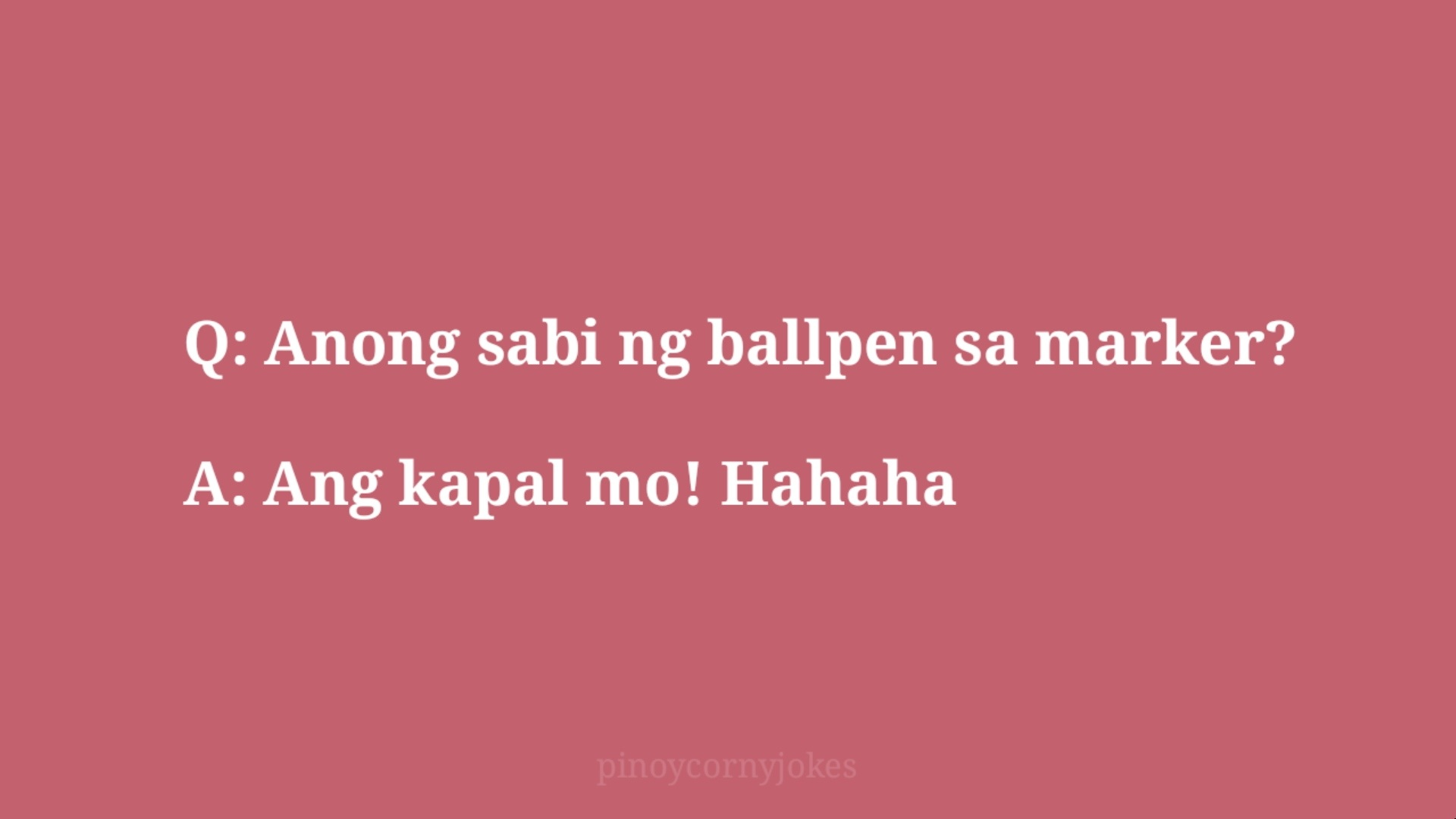 marker pinoy jokes question and answers