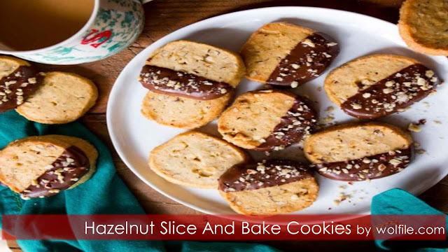 Hazelnut Slice And Bake Cookies Recipe #Cookies # Snack