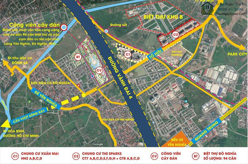 Vị trí dự án Sol Lake Villa Nam Cường trên Maps