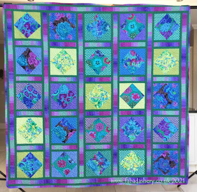'Water Garden' quilt made by Pat