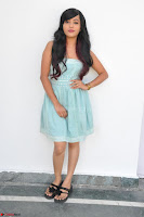 Sahana New cute Telugu Actress in Sky Blue Small Sleeveless Dress ~  Exclusive Galleries 002.jpg