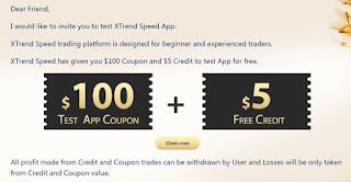 XTrend Forex No Deposit Bonus - $100 Coupon & $5 Credit