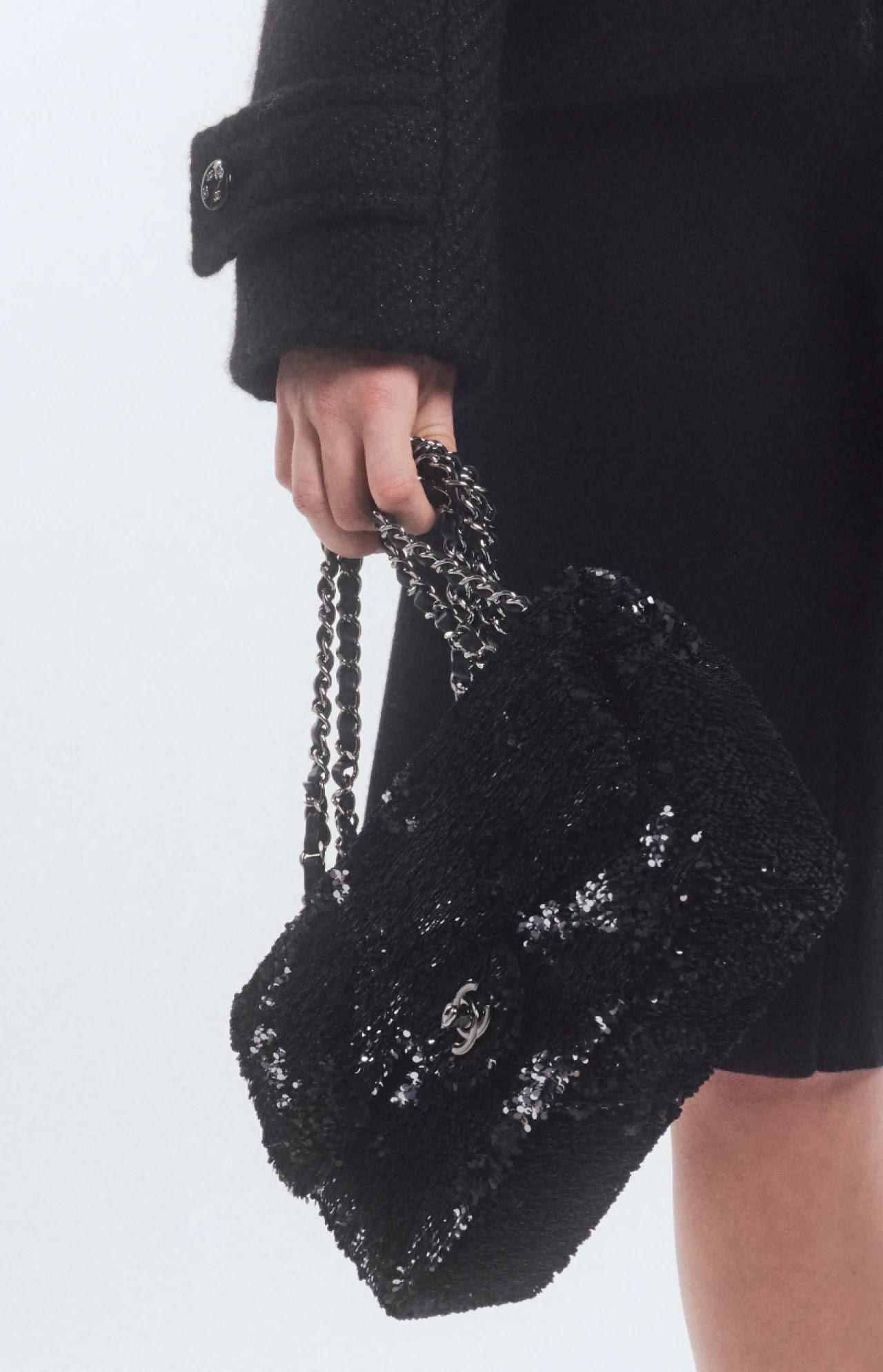 Chanel sequin flap bag