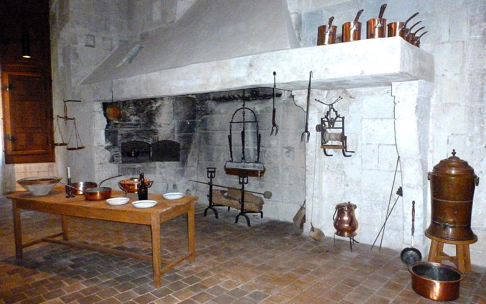Living the life in Saint-Aignan: A restored kitchen at Chambord