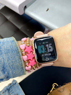 apple watch, amazon apple watch, pink bracelets, arm candy, arm stack