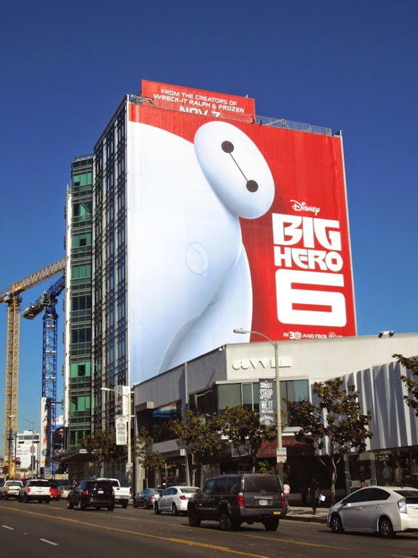 Giant Disney Big Hero 6 movie billboard