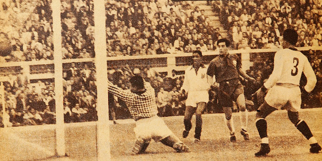 Perú y Chile en Copa del Pacífico 1953, partido de ida