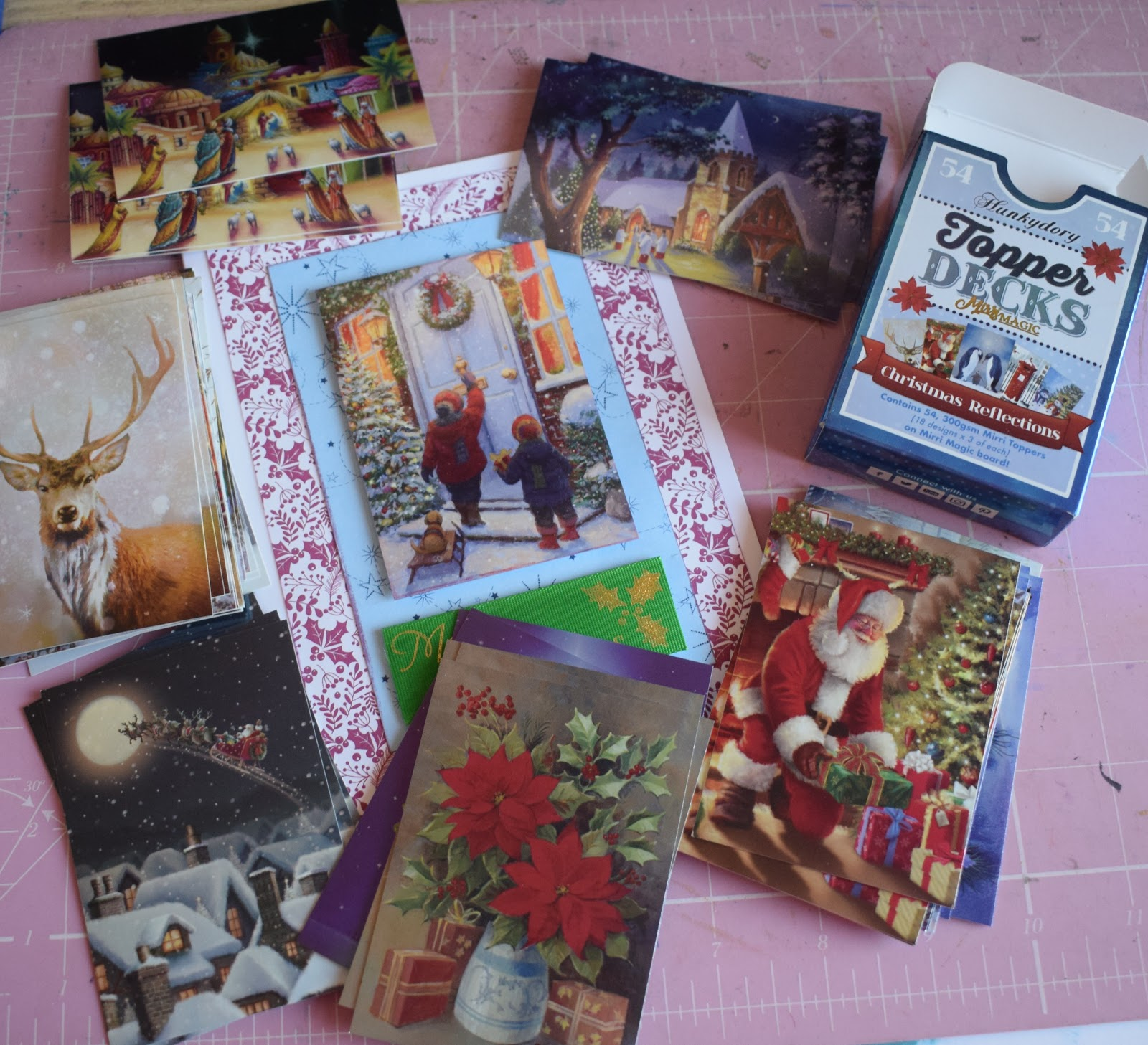 Christmas Toppers For Card Making.Alizabethy Card Making Addict Hunkydory Christmas