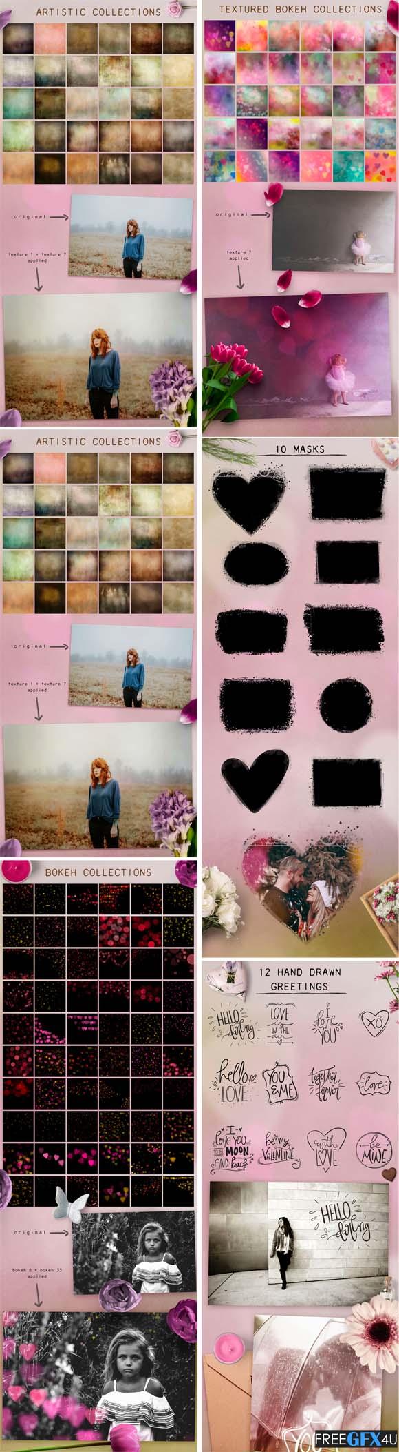 Valentine Psd Photography Textures Overlay Set