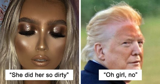 This Online Group Is Sharing Pics Of People With Ridiculous Makeup And Hoping They Cleaned It Right Off (117 Pics)