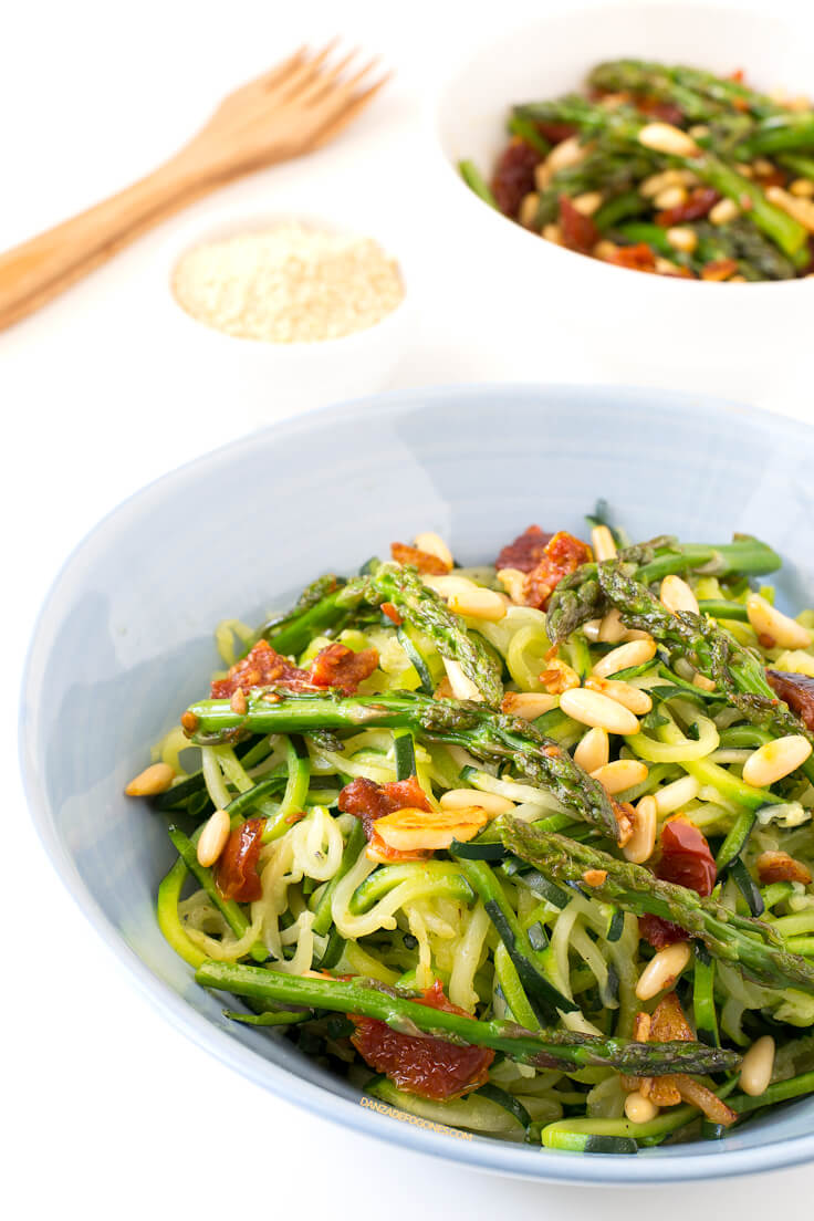 Zucchini Pasta with Vegetables