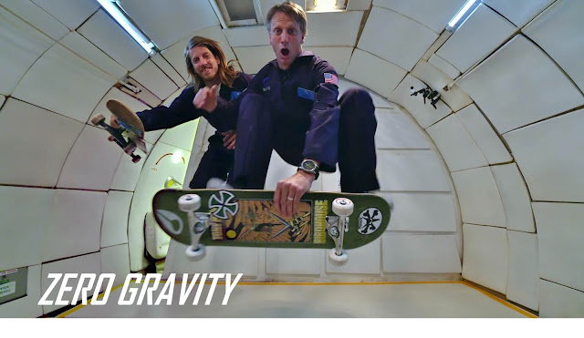 "Behind the Scenes with Tony Hawk, Aaron ""Jaws"" Homoki and 900 Films in Zero Gravity"