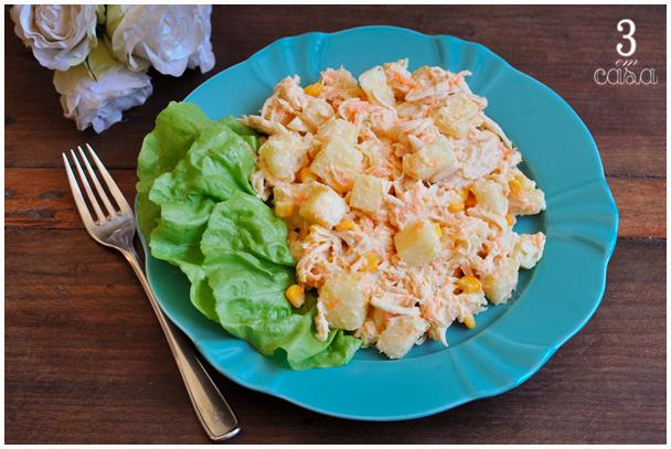 salada frango com abacaxi receita