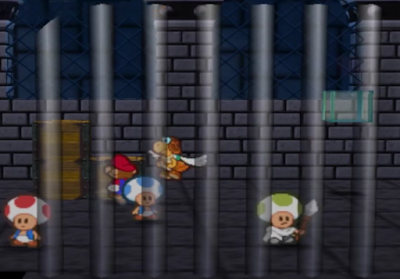 Paper Mario Bowser's Castle jail dungeon Toads Parakarry
