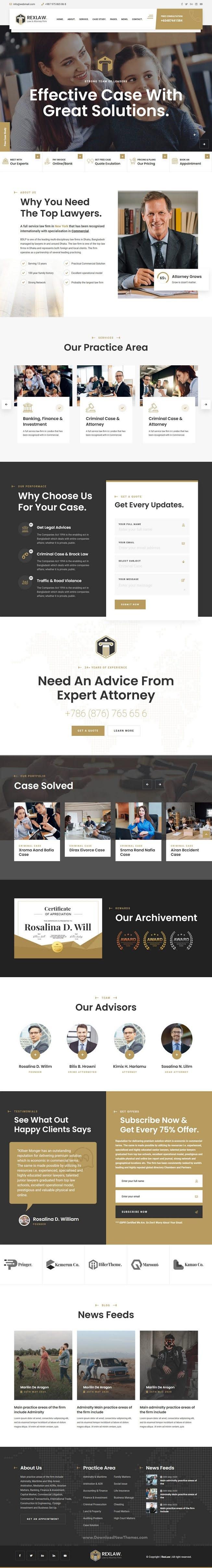 Law & Attorney WordPress Theme