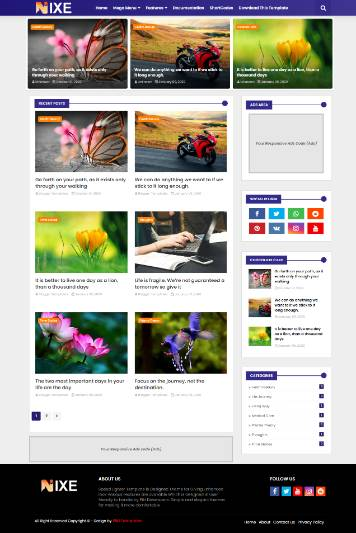 Blogger Template Nixe