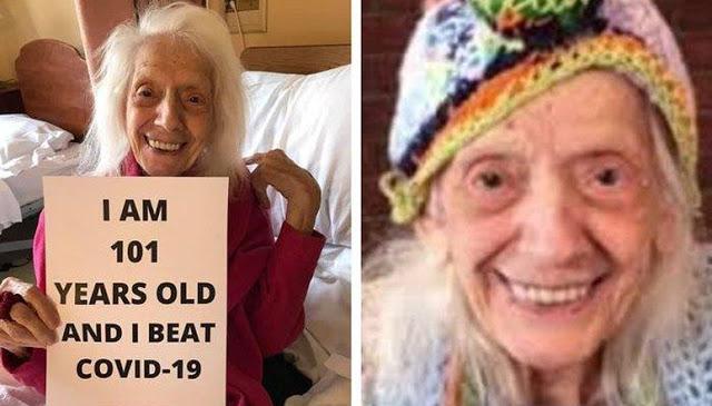 Mukzizat Selalu Ada!! Nenek 102 Tahun Sembuh dari Virus Corona, Dulu Pernah Selamat dari Pandemi Flu Spanyol, Pernah Keguguran dan Kena Kanker